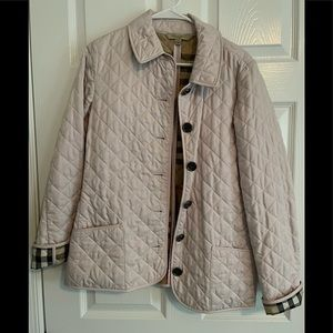 Authentic Burberry Light Pink Quilted Coat